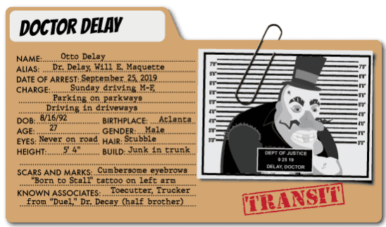 Captain Contributor vs. Dr. Delay